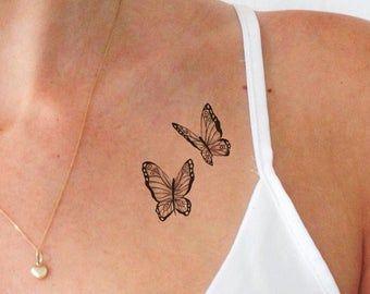 Tattoos   Etsy Small Hip Tattoos Women, Rib Tattoos For Women, Hip Tattoo Small, Collar Bone Tattoo Small, Unique Women Tattoos, Colar Bone Tattoo, Tattoo On Hip Bone, Tattoos For Girls, Girl Rib Tattoos