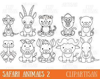 Safari Baby Animals Clipart Jungle Animals Clipart Zoo Animals Clipart African Animals Safari Baby Animals Animal Clipart