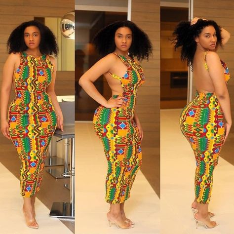 backless Ankara Styles For African Ladies