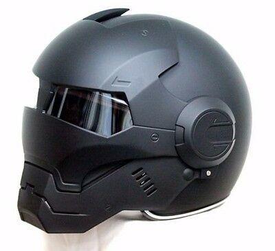 CASCO ELMETTO BLACK PANTHER IRON-MAN MOTORCYCLE HELMET HERO M-XL ABS AUTO NEW