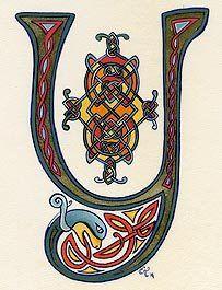 Enluminures Enluminure Lettrine Et Alphabet Celte