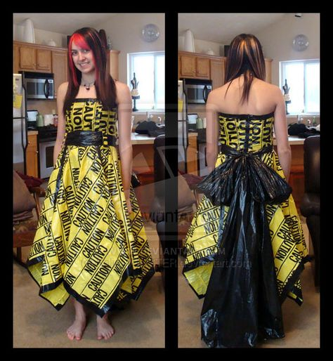 Angela Tarantula in Wonderland: Duct tape dresses