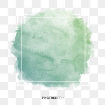 Royal Green Pastel Watercolor Frame Border Frame Pastel Square