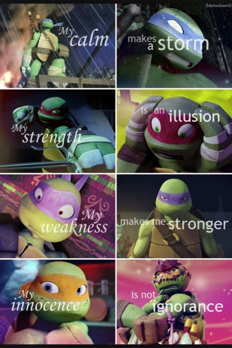TMNT 2012 What the turtles are really like////// I would like to say DONNIE IS NOT WEAK