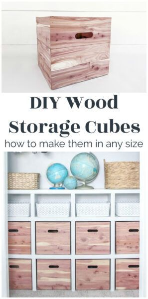 How To Make Wood Storage Cubes In Any Size In 2020 Cube Storage Diy Wood Box Wood Storage Box