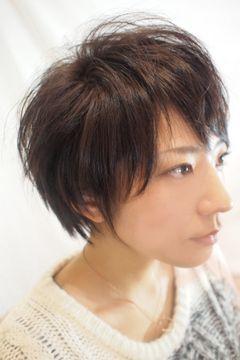 女性の髪型 ベリーショートウルフカット 髪型 ハンサムショート