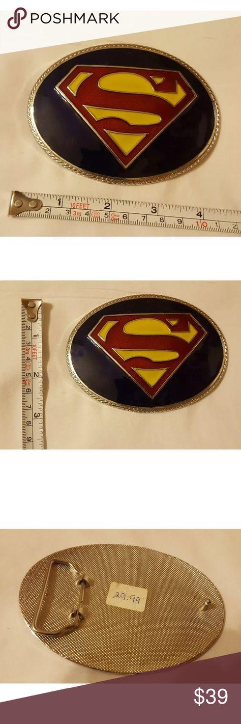 Retro Hero Superman Belt Buckle Vintage Classic Buckles