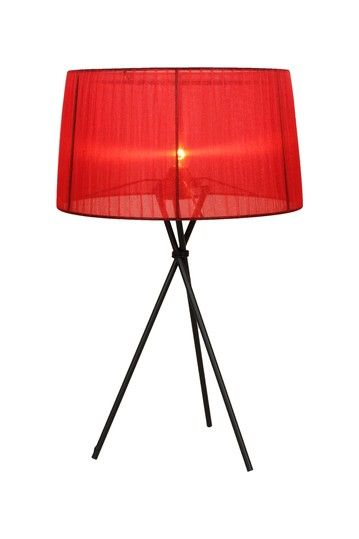 Sticks Table Lamp Red (With images)   Red table lamp, Lamp