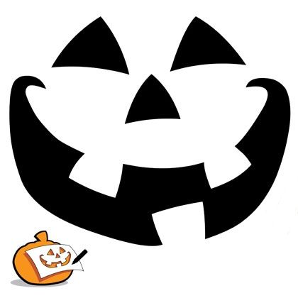 Pumpkin-Carving Template - Classic Pumpkin Face Halloween - pumpkin carving template