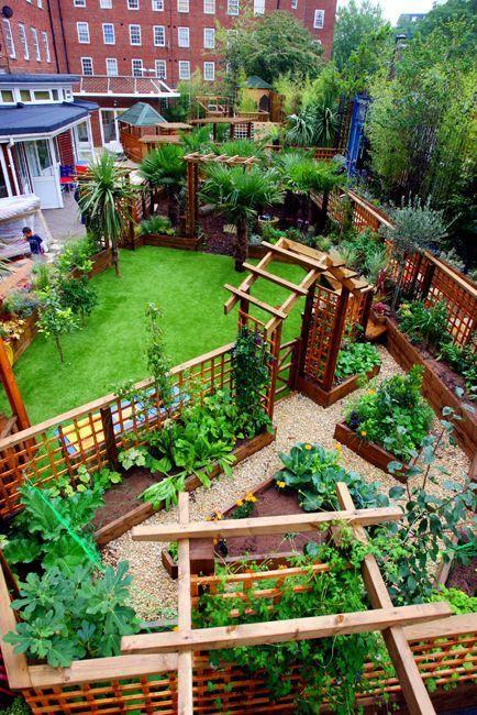 It S For A Nursery School In London But The Garden Layout Is Great Nice Defined Spaces Raisedorganic Garden Layout Urban Garden Design Backyard Garden Layout