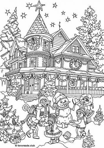 97b65ac3c22e553aa082a6ce6fc9e1c7 » Santas House Coloring Page