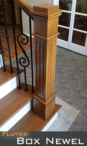 Fluted Box Newel Post Bottom Section Is 6 1 4 Square 56 Height Top Of The Box Newel Is 4 3 4 Newel Posts Stairs Design Wooden Stars