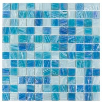 Pizzoli 1 X 1 Glass Mosaic Floor Wall Tile In 2020 Mosaic Glass Mosaic Flooring Mosaic