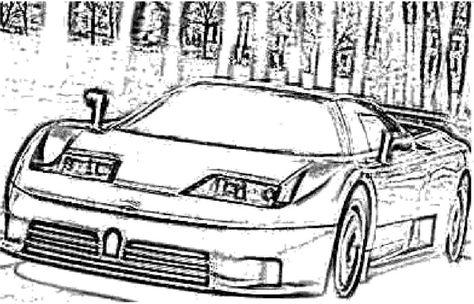 Car Bugatti Veyron Sport Coloring Page Bugatti Pinterest