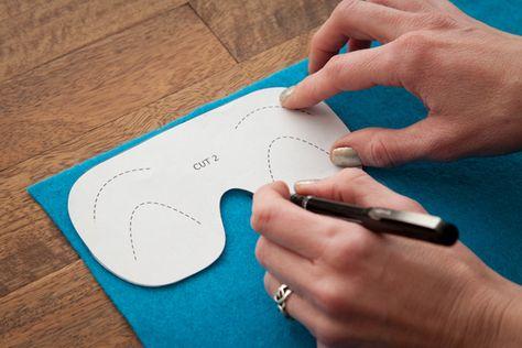 DIY Sleep Mask Trace Pattern