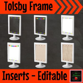 Editable Tolsby Frame Inserts Ikea Tolsby Frame Classroom Organization Elementary Ikea Classroom