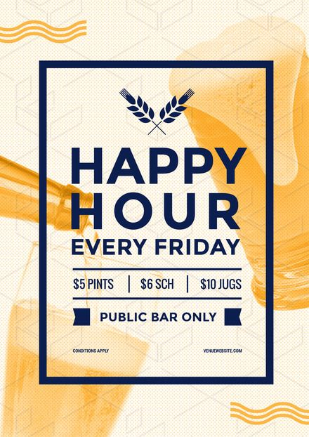 4d7cfe36ebd DIY Drinks Template - Easily editable posters, flyers and social media  images about drinks for hospitality. Happy Hour Poster/Flyer/Template  Design from ...