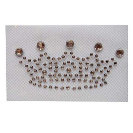 Transfert strass Hotfix Iron sur motif appliqué en Cristal Cadeau Couronne strass
