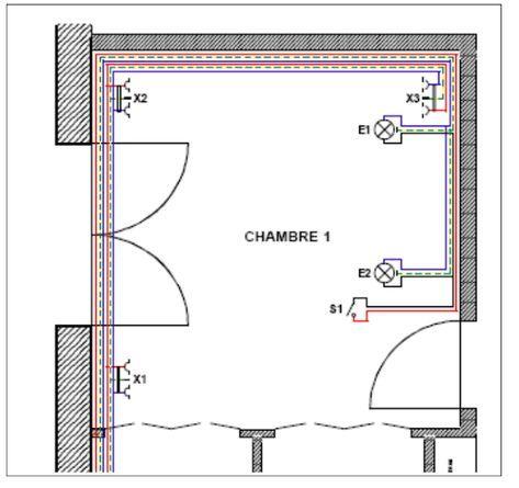Schema Electrique Chambre Norme Installation D Une Chambre Branchement Raccordement Installation Cablage Chambre No House Design Design Chart