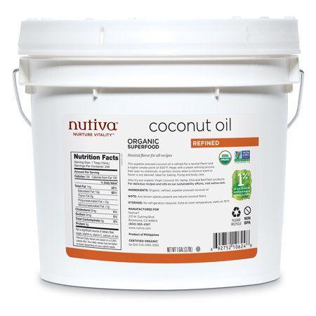 Nutiva Organic Neutral Tasting Steam Refined Coconut Oil 1 Gallon Walmart Com Organic Virgin Coconut Oil Refined Coconut Oil Nutiva Coconut Oil