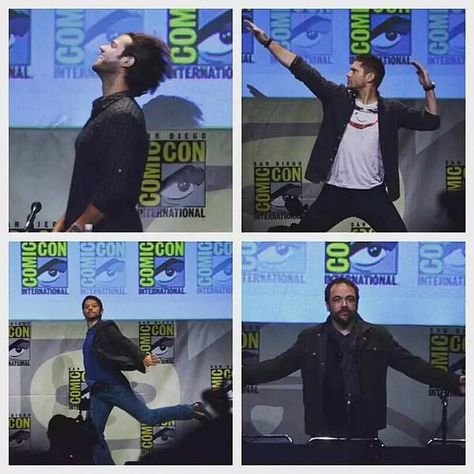 Jared, Jensen, Misha and Mark at #SDCC 2015 || Jensen Ackles || Jared Padalecki || Misha Collins || Mark sheppard || Comic Con 2015