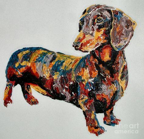 Rainbow Sausage Dog Iron On Transfer A5
