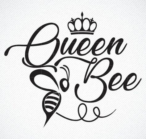 Queen Bee SVG, Queen Bee png, Boss SVG, Cricut SVG Files, svg cut files svg, pdf, jpg, png dxf, instant download, diy vinyl decals, print
