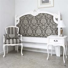 Love The Contrasting Dark Fabrics With White French Prov Furniture.