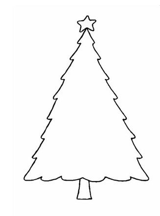 Christmas Tree Template Christmas Tree Coloring Page Christmas Tree Template Christmas Tree Outline