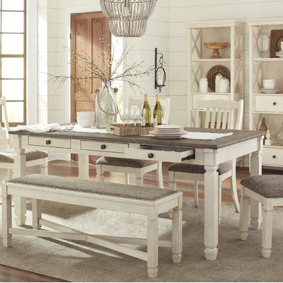 One Allium Way Sofie Rectangular Counter Height Dining Table