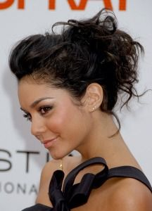 Vanessa Hudgens. Hair styles for naturally curly hair. A 5 minute up do, now that's what I'm talking about!! Instruction video is attached =]