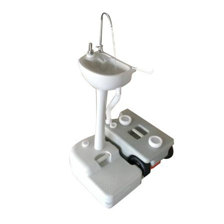 Outdoor Removable Camping Wash Basin Sink Stand Water Tank Faucet Towel Holder