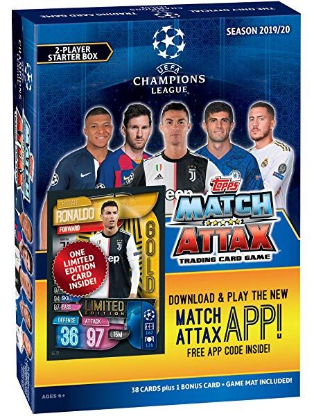Amazon Com Match Attax 2019 2020 Topps Uefa Champions League Mega Collectors Complete 4 Tin Set With One Ea Match Attax Uefa Champions League Champions League