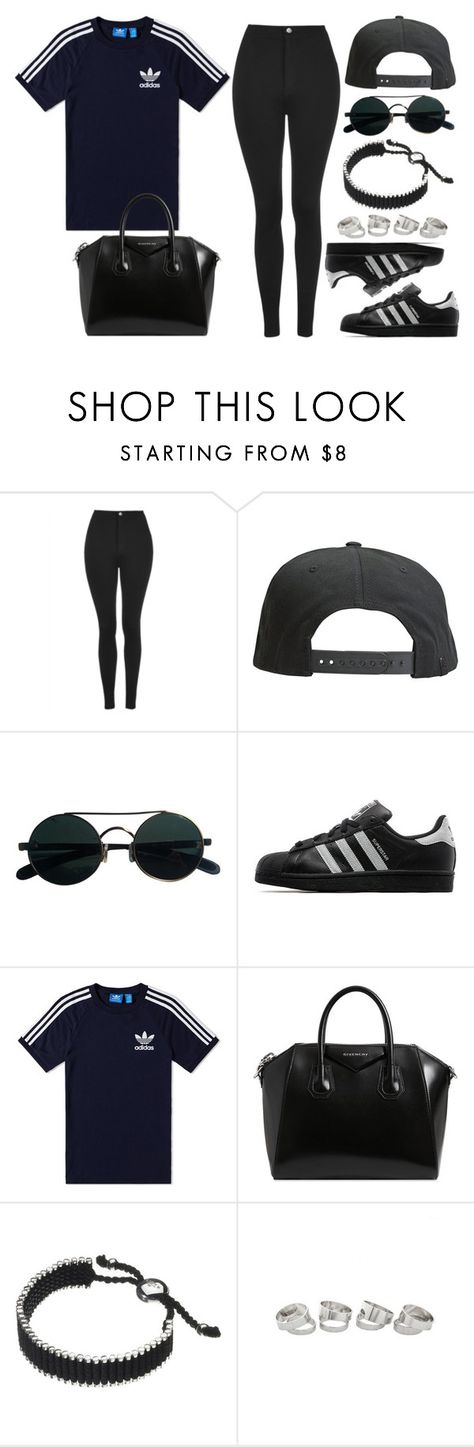 """""""Style #11224"""" by vany-alvarado ❤ liked on Polyvore featuring Topshop, Tavik Swimwear, adidas Originals, adidas, Givenchy and Links of London"""