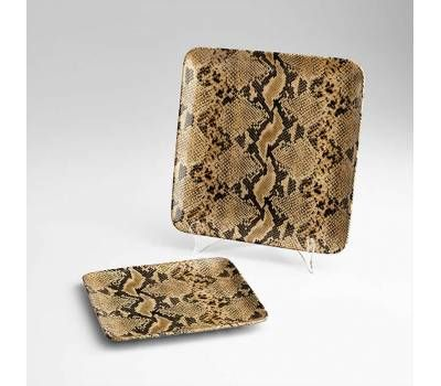 Superb Large Snake Skin Patterned Square Ceramic Tray Dishes Andrewgaddart Wooden Chair Designs For Living Room Andrewgaddartcom
