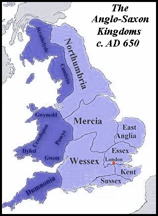 Chronological Listing Of The Kings Of England Anglo Saxon
