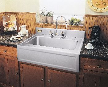Elkay 3626EGSF Elite Gourmet Single Bowl Farm Apron Kitchen Sink    Stainless Steel (Pictured W/Optional Backsplash And Faucet   Not Included)  | Pinterest ...