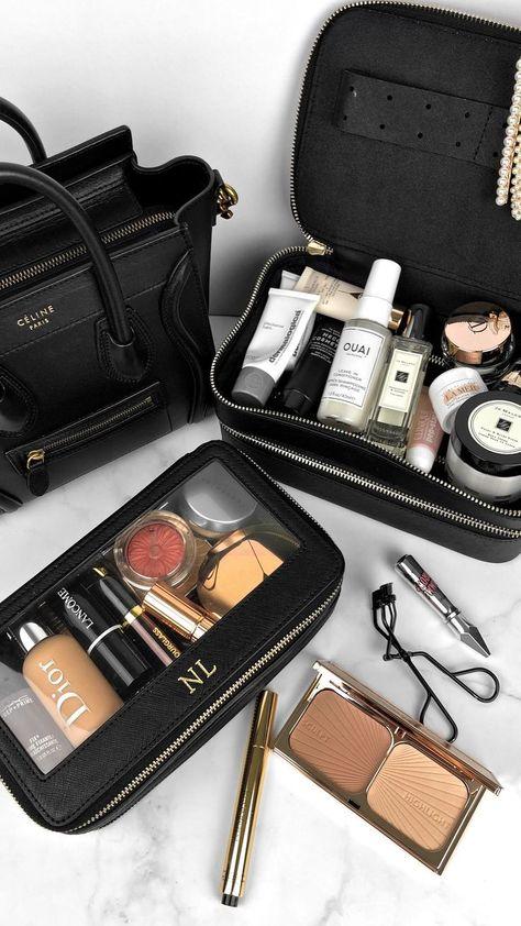 Best stylish travel makeup bags #beauty #makeup #flatlay #travel #makeupbag   Instagram: @fromluxewithlove