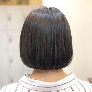 ワンレングス ボブ ショートボブ ナチュラル ヘアスタイルや髪型の写真 画像 ワンレングス ボブ ショートボブ ヘアスタイル ロング