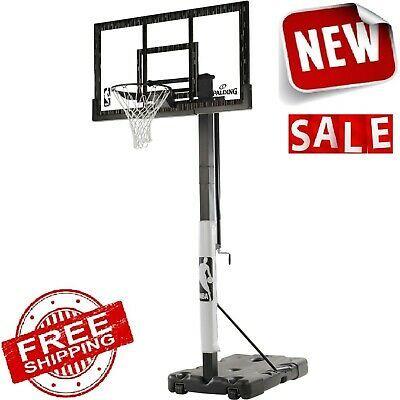 Basketball Hoop System Adjustable Portable Acrylic Screw Jack Spalding Nba 60 In 2020 Basketball Hoop Spalding Basketball