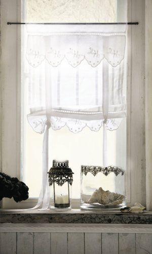 Country Style Romantic Curtains Lannion Set Of 2 Amazon Co Uk Kitchen Home Vorhange Landhausstil Kuchengardinen Und Gardinen Landhausstil