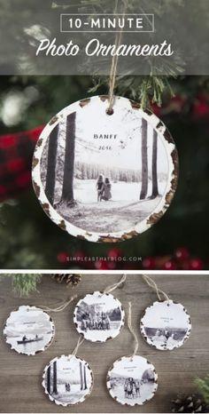 10 Minute Photo Keepsake Ornaments