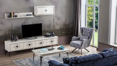 atlantik ahsap tv unitesi fume mobilya tasarim tv unitesi