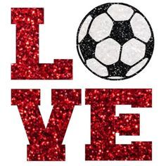 Glitter Soccer LOVE Iron On Soccer Mom Soccer by IHeartHoundstooth 6c5271dc277b8