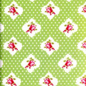 LULU ROSES-LOTTI-RED//PINK FREE SPIRIT PATCHWORK FABRIC