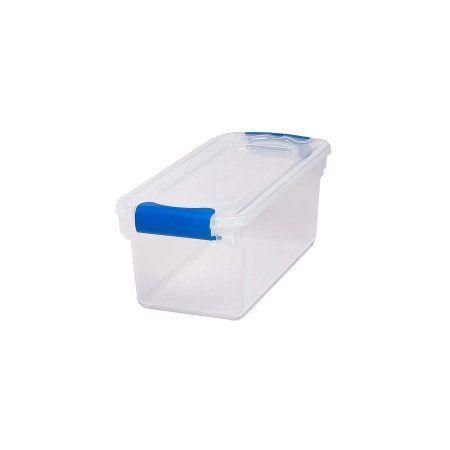 Homz 7 5 Qt Plastic Latching Shoebox