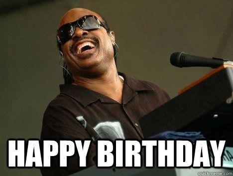 Stevie Wonder Happy Birthday Meme Funnymemes