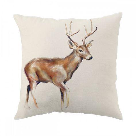 Deer Pillow 18x18 inch Decorative