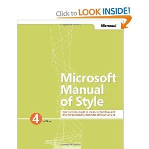 Microsoft Manual Of Style By Microsoft Corporation 17 48 Edition Fourth Edition Publication January 27 Microsoft Corporation Books Computer Technology