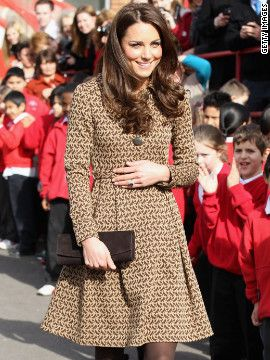 Kate wore a printed Orla Kiely coatdress while visiting Rose Hill Primary School in Oxford on February 21. That day, Lucky magazine reported that the jacket had already sold out in stores and online.